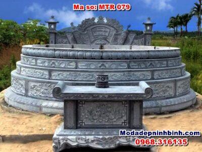 Mẫu mộ đá tròn Ninh Bình MTR 079