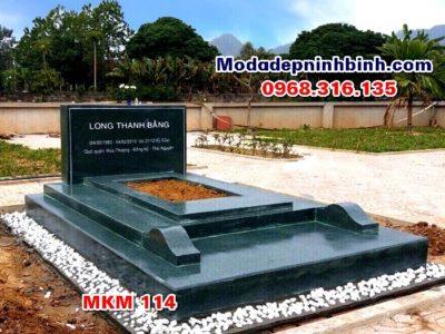 Mẫu mộ đá xanh rêu MKM 114