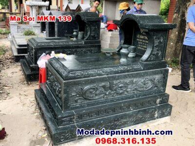 Mẫu mộ đá xanh rêu Thanh Trì Hà Nội
