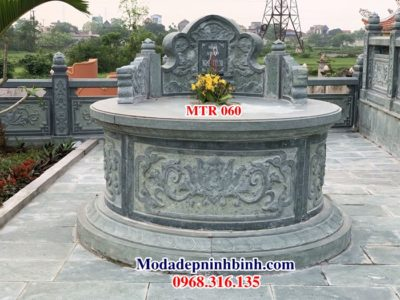 Mộ đá tròn đẹp MTR 060
