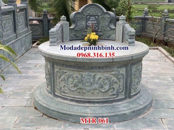 Mộ đá tròn đẹp MTR 061