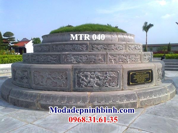 Mộ tròn đá khắc tranh tứ bình