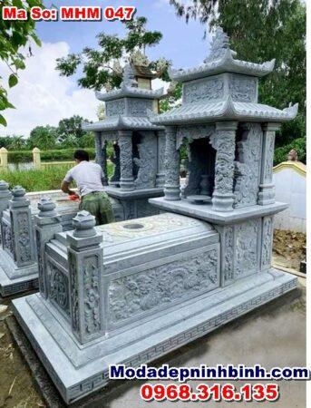 mộ đá xanh rêu cao cấp