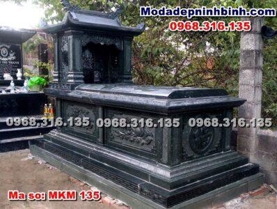 mộ đá xanh rêu đẹp mkm 135