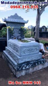 mộ đá xanh rêu đẹp tại lý nhân hà nam