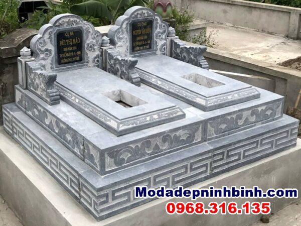 Lắp mộ đôi đá tại Yên Khánh Ninh Bình