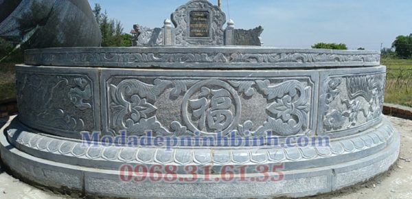 Mộ tròn đá hoàn thiện lắp đặt tại Nghệ An