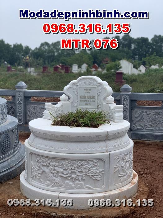mộ tròn đá trắng tại hà tĩnh