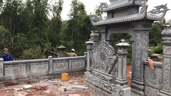 Thi công khu lăng mộ đá Quảng Bình