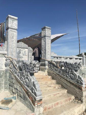 Thi công khu mộ đá tại Nam Đàn , Nghệ An