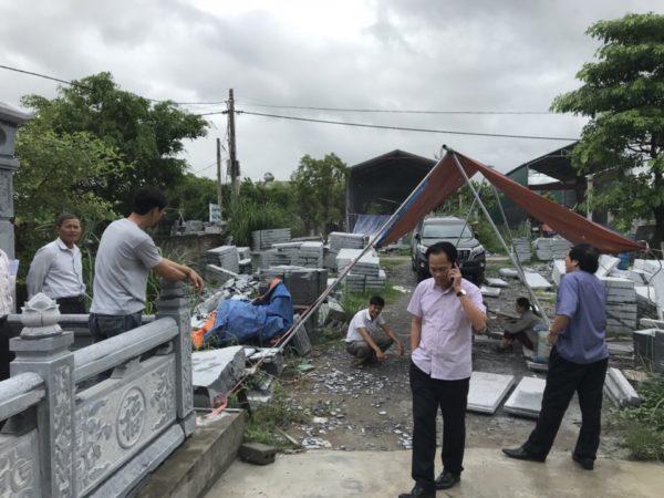 Thi công xây dựng khu mộ đá Quỳnh Lưu Nghệ An